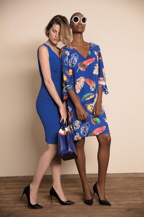 שמלות פרחוניות בגווני כחול של GOLBARY