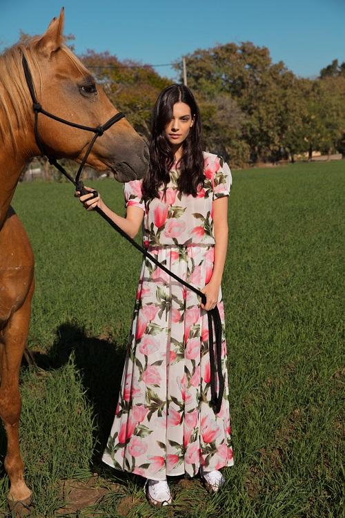 שמלת מקסי פרחונית גולברי