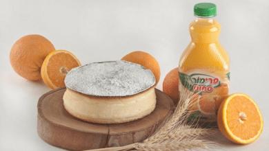 Photo of עוגת גבינה אפויה בניחוח הדרים
