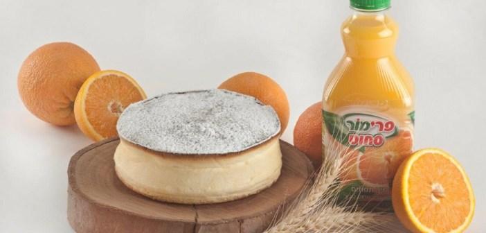 עוגת גבינה אפויה בניחוח הדרים