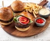 המבורגר צמחוני משעועית אדומה ופטריות