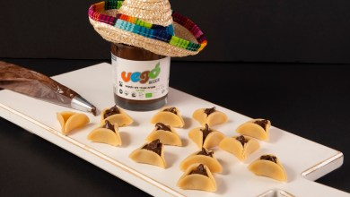 Photo of אזני המן טבעוניים ממרציפן במילוי ממרח שוקולד וגו