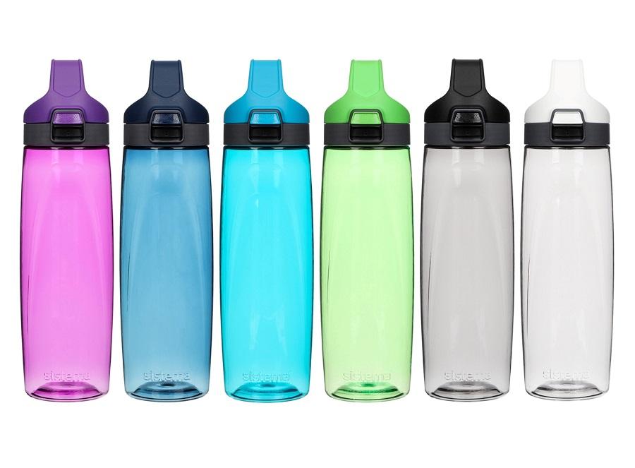 בקבוקי שתיה צבעוניים של סיסטמה