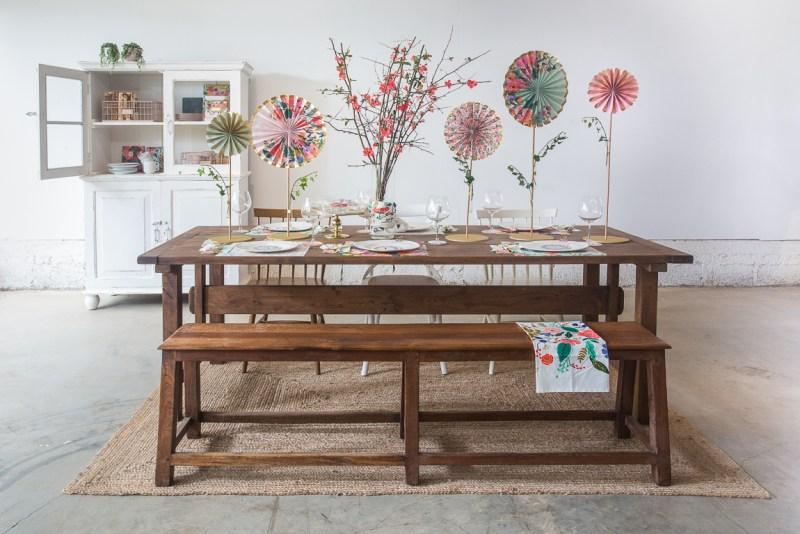 עיצוב שולחן בסגנון שאבי שיק