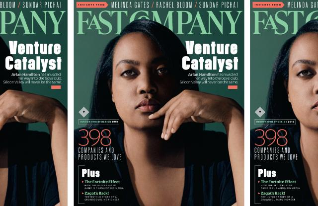 Arlan Hamilton on the cover of Fast Company.