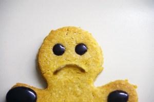 Sad cookie holidays christmas