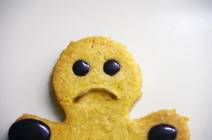 Sad cookie holidays christmas