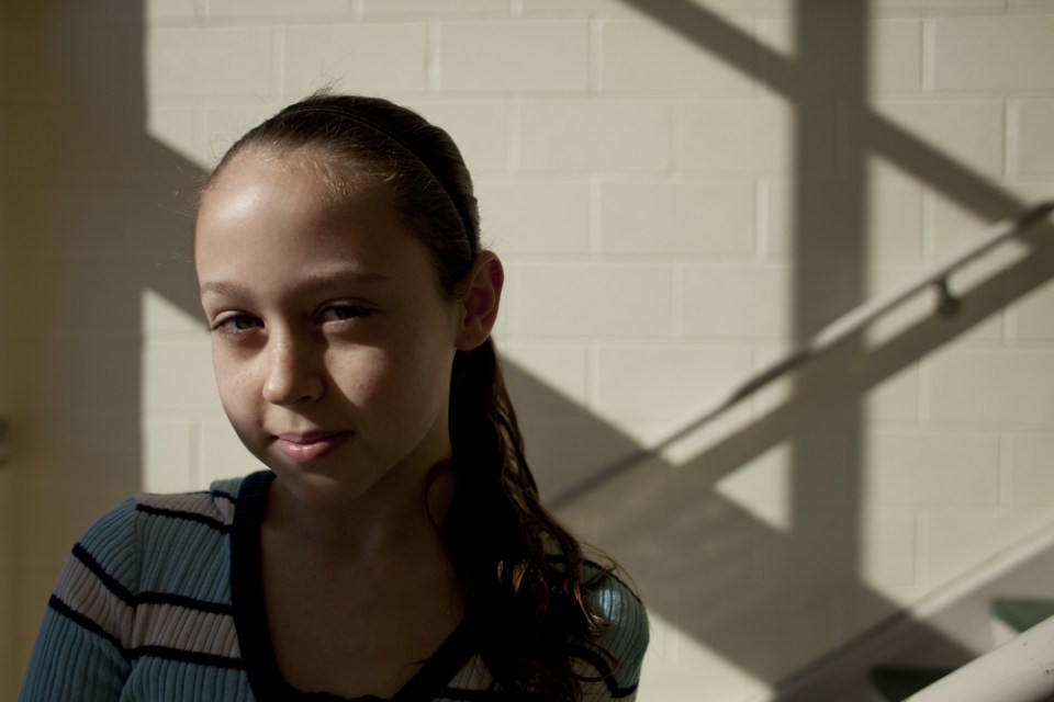 Morgan Barker, 12, says she tries to visualize Hawaii when she's feeling stressed. One of the techniques taught in the course is to think of a happy place.