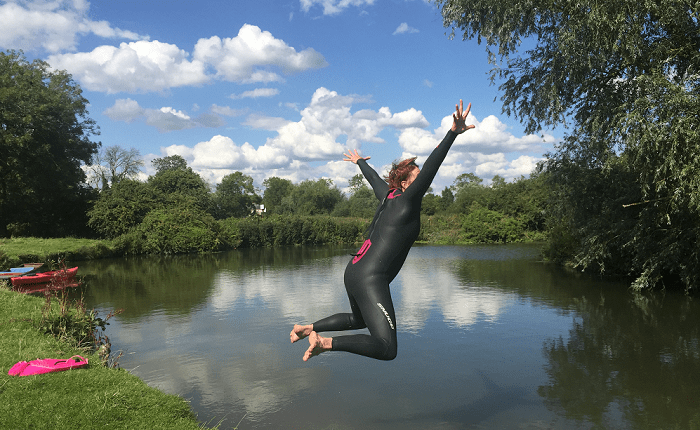 Open water swimming is exhilarating, it makes me feel alive
