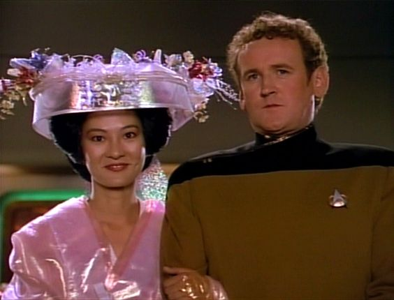 Keiko and Miles at their wedding