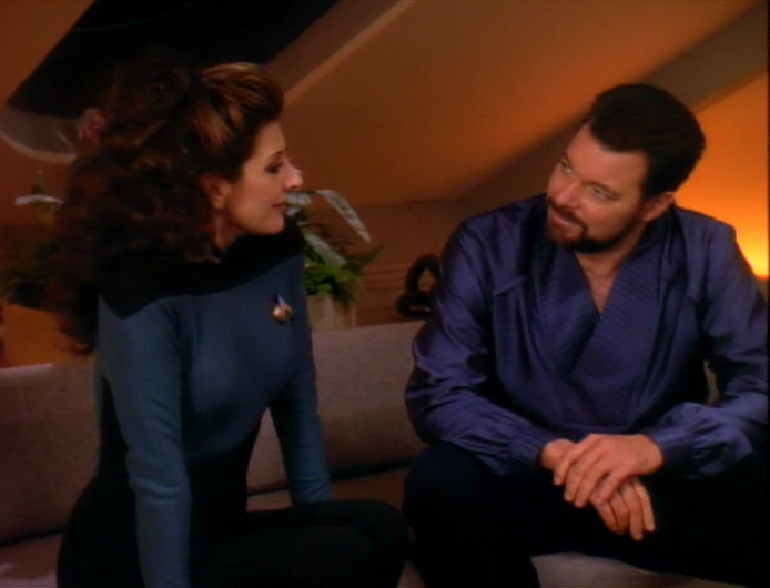 "Riker and Troi in ""Thine Own Self"""