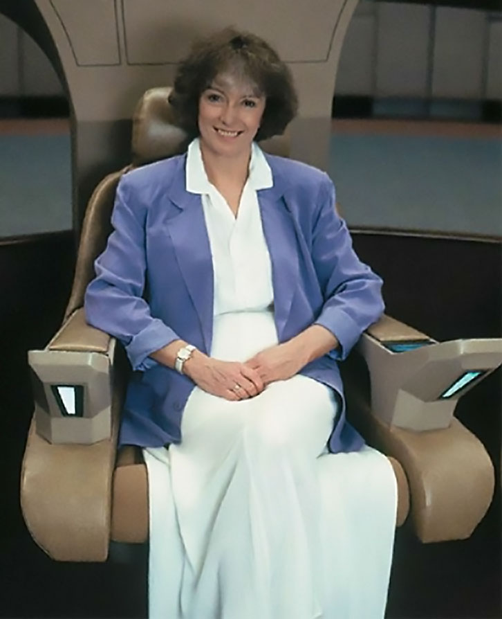 Jeri Taylor in the Captain's Chair