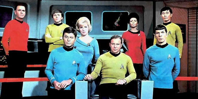 Spock with his Enterprise crew