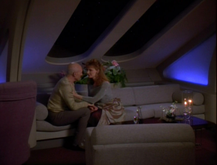 "Picard and Crusher in ""Attached"""