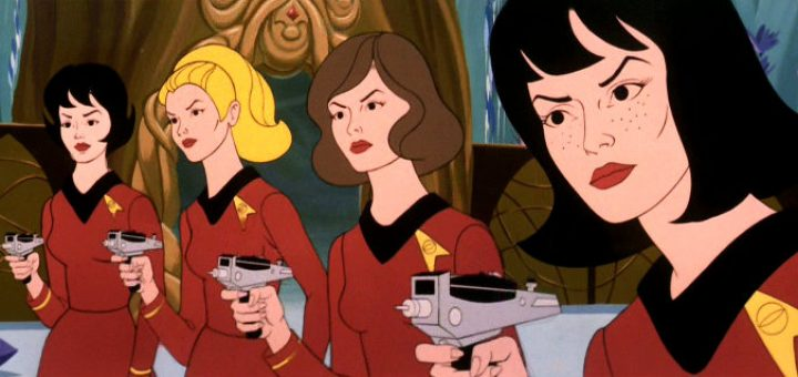 "The women of the Enterprise lead an away mission in ""The Lorelei Signal"""