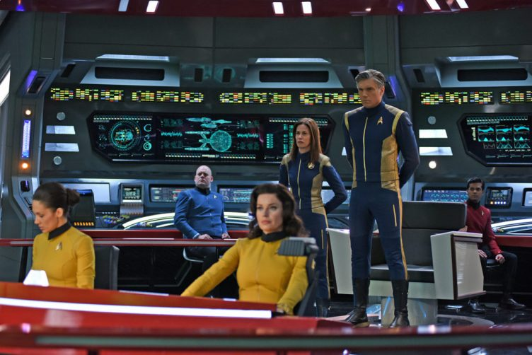 The Enterprise Bridge, with Number One, Pike, Cornwell and other crew