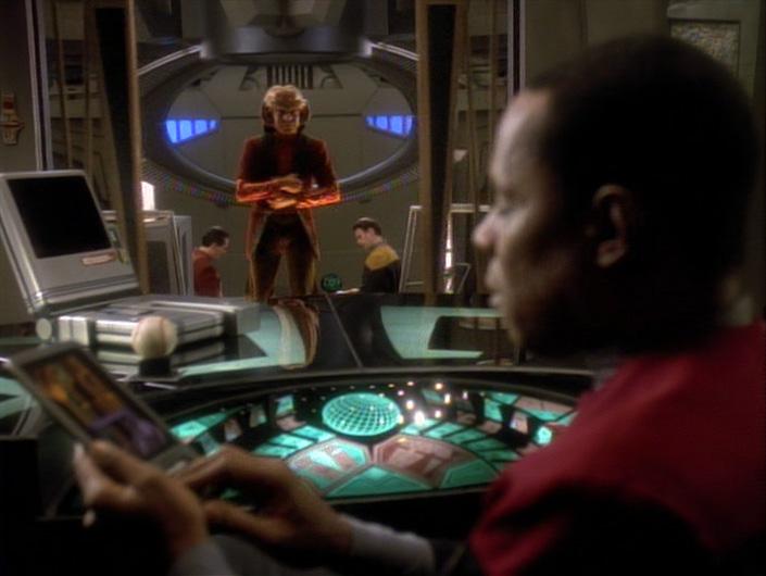Nog in Sisko's office