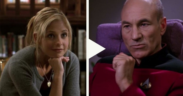 Buffy and Captain Picard
