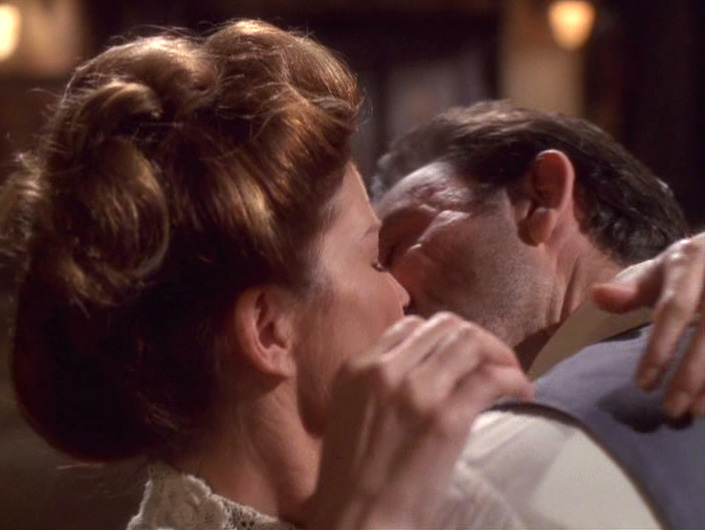 Janeway kisses Michael Sullivan