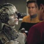 Seven as a Borg talks to Chakotay