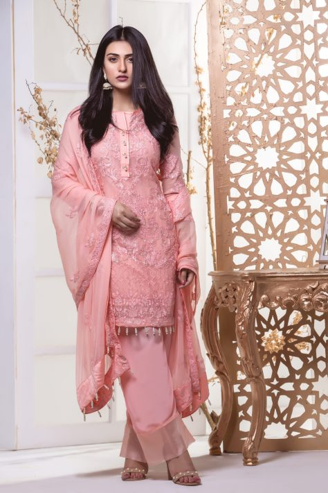 Z.S Textile Chiffon Embroidered Collection 2018 By Mahrukh