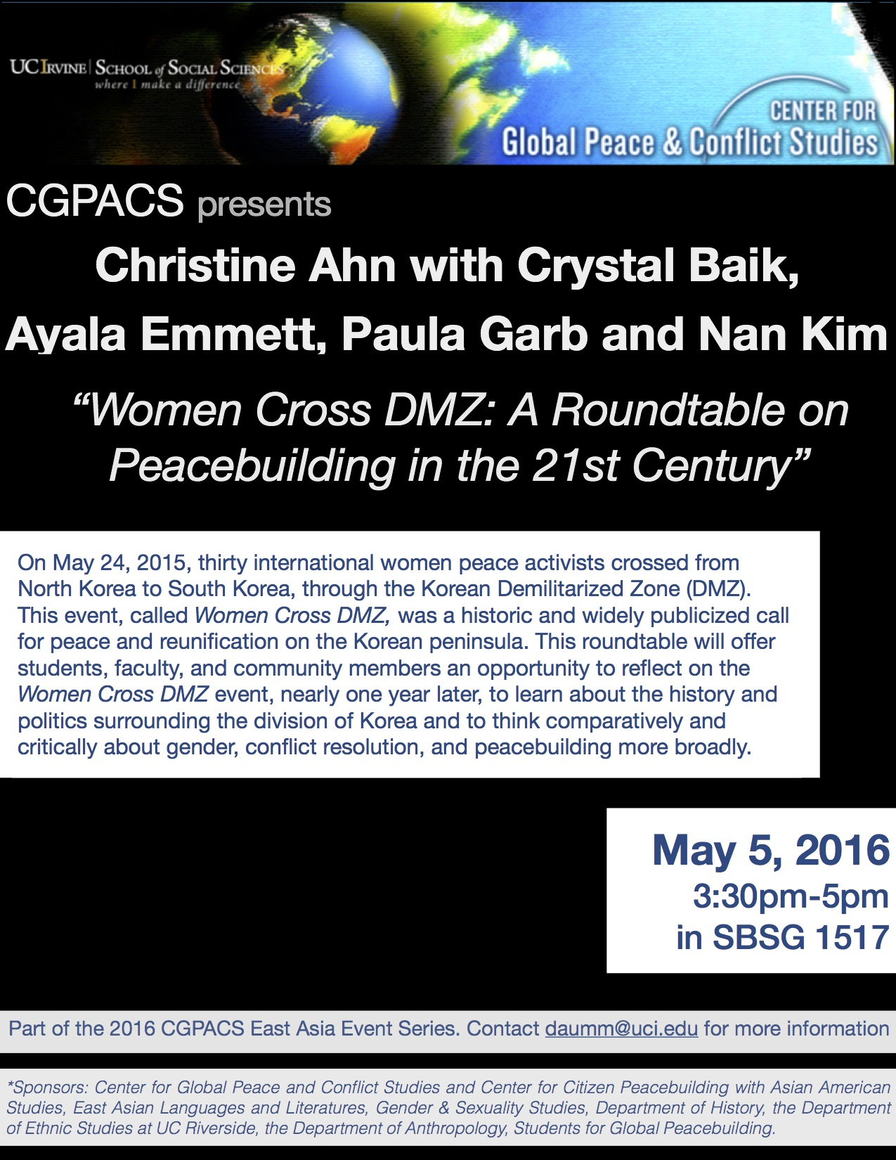 CGPACS, Women DMZ flyer copy