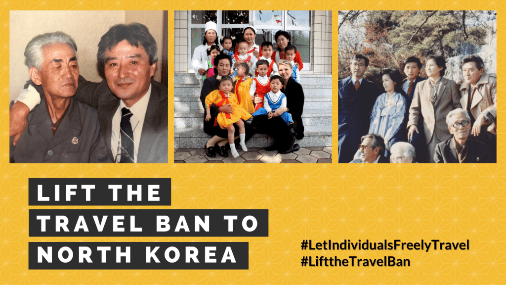 Lift the travel ban to North Korea