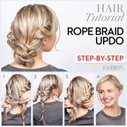 great step-step updo hair
