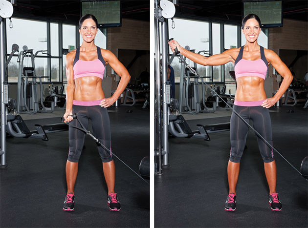 Strength Training Exercise  One Arm Lateral Raise Cable