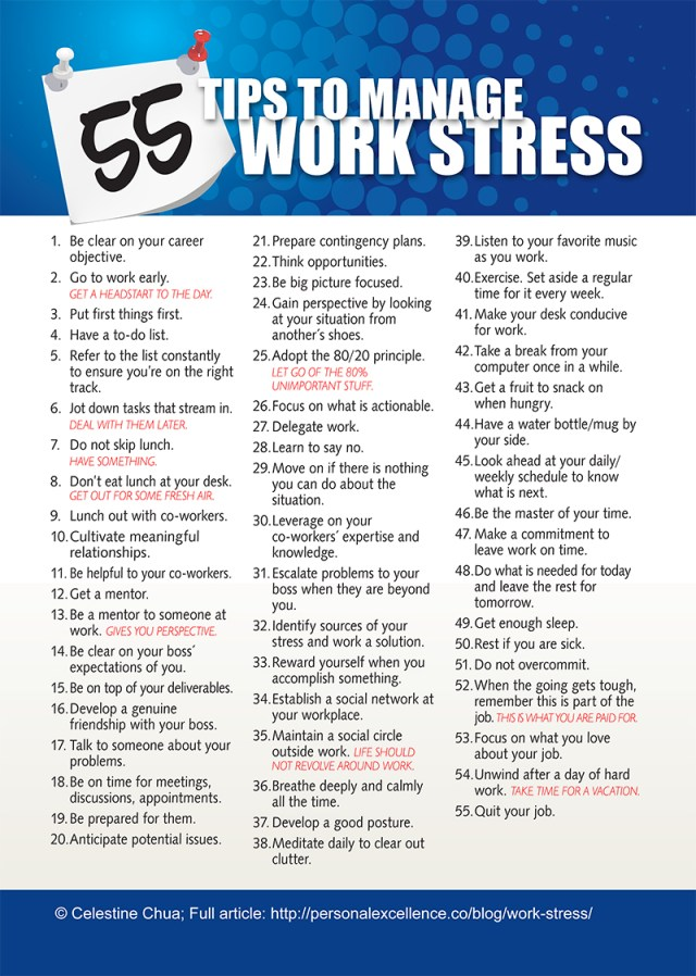 Ways To Reduce Work related Stress