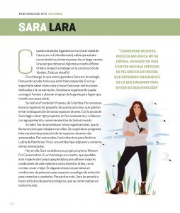 Sara Ines Lara recognized as one in 100 Great Latin American Women