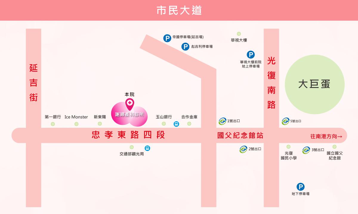 交通資訊 - 謝婦產科診所