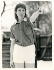 Julia Lee as a young Rugby League referee - photo courtesy of the Hull Daily Mail