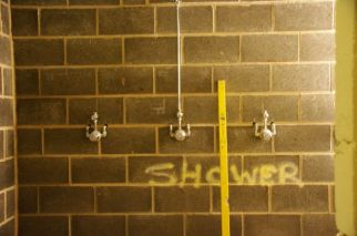 Showers under 30m stand for the new Gym