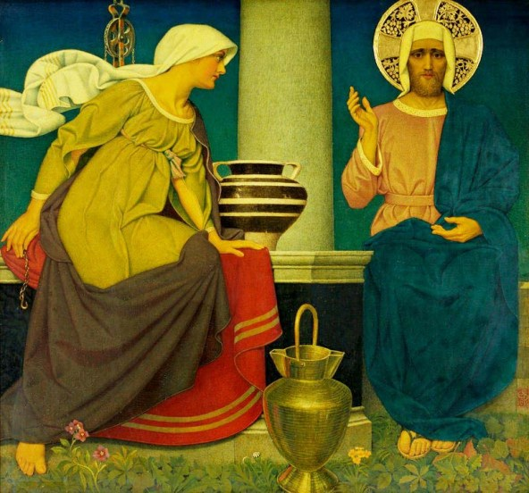 The Samaritan woman meets Jesus at the well, John Southall, 1935