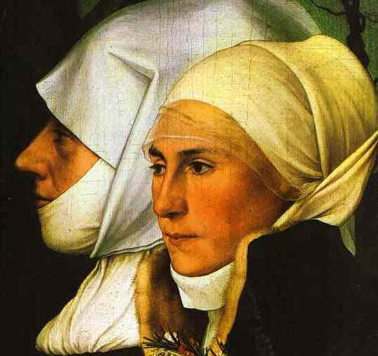Painting of an older and a younger woman