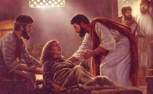 Image result for Jesus and Simon's mother-in-law, pictures