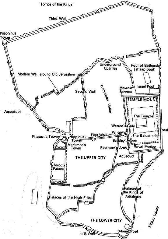 MAPS of ANCIENT JERUSALEM, from King David to King Herod