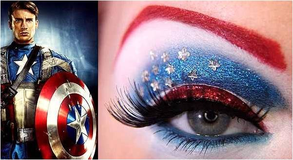 yeshadow inspired by Captain America from Avengers