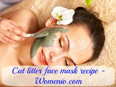 Cat litter facial mask