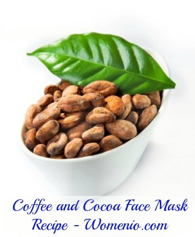 Coffee cocoa facial mask