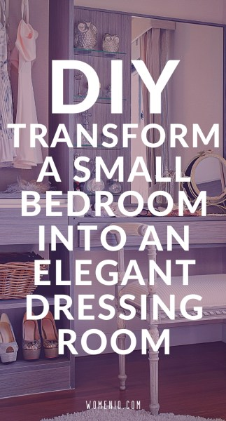 Transform bedroom to dressing room