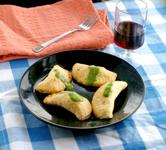 Chorizo and Chicken Empanadas with a Chimichurri Sauce