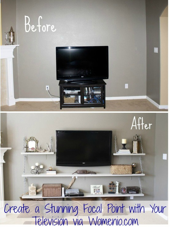 Beautiful tv decor idea step by step