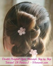 double ponytail updo hairstyle