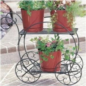 Garden wagon flower stand