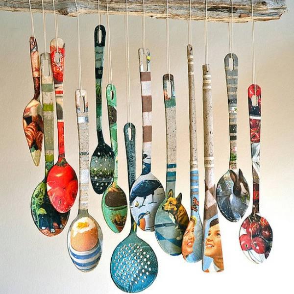 Kitchen spoon decoration