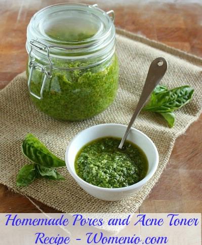 Homemade pores and acne toner recipe