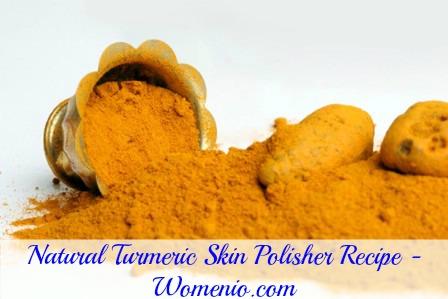 Turmeric skin polisher