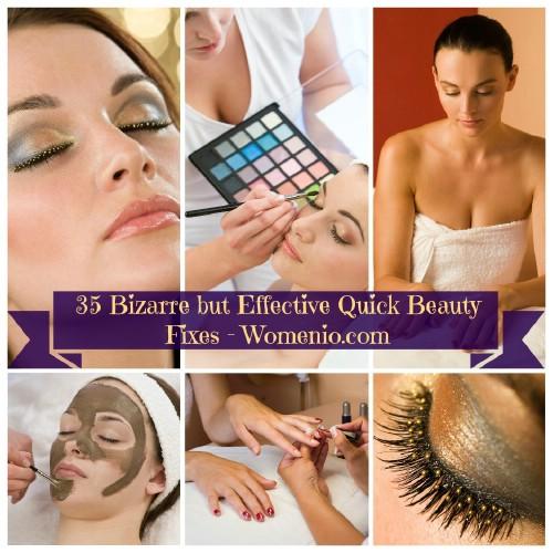 35 Bizarre but Effective Quick Beauty Hacks